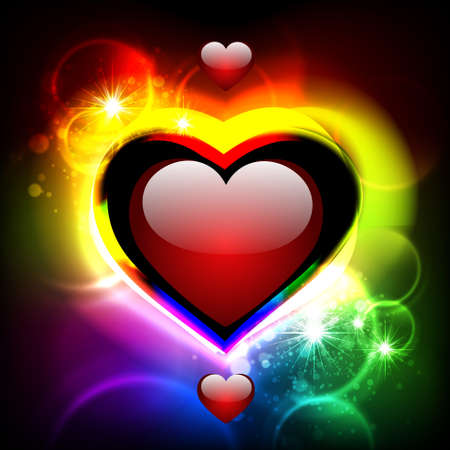 Abstract Hintergrund mit Herzen. Vektorgrafik