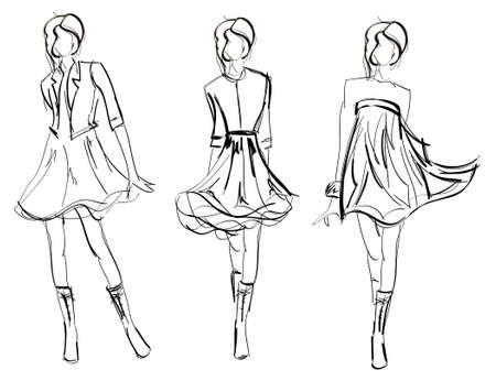 sketch: Schets. mode meisjes
