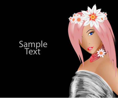fashion model. spring girl Vector
