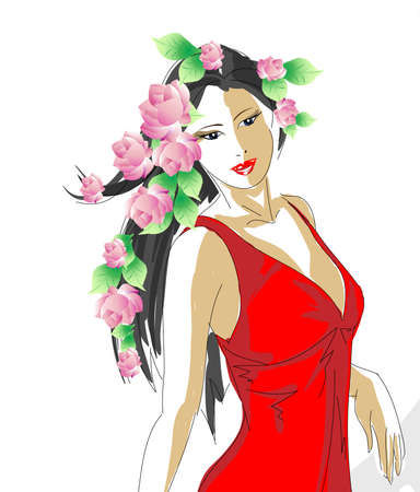 fashion model. spring girl Stock Vector - 11613455