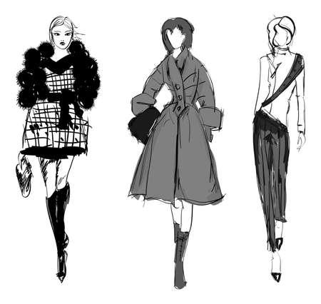Schets. mode meisjes