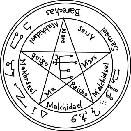 Occult ancient magic symbol. element.