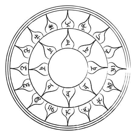 pohanský: Okultní starověký symbol magie. element.