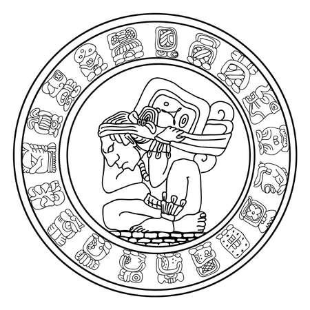 cultura maya: Maya s�mbolo Vectores