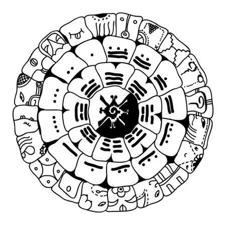 Maya symbol Stock Illustratie