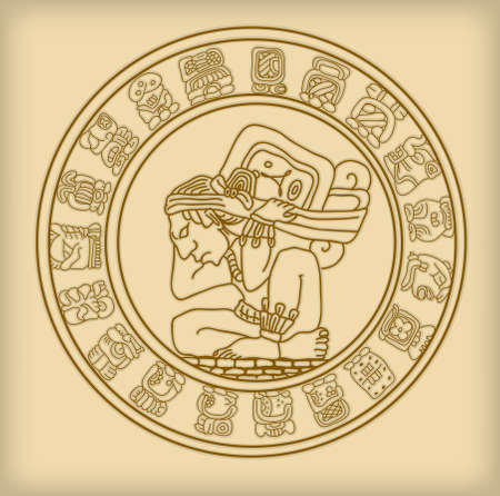 mayan culture: Maya symbol Illustration