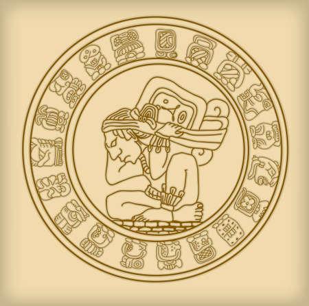 prophecy: Maya symbol Illustration