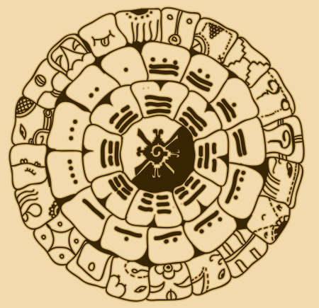 prognostication: Maya symbol Illustration