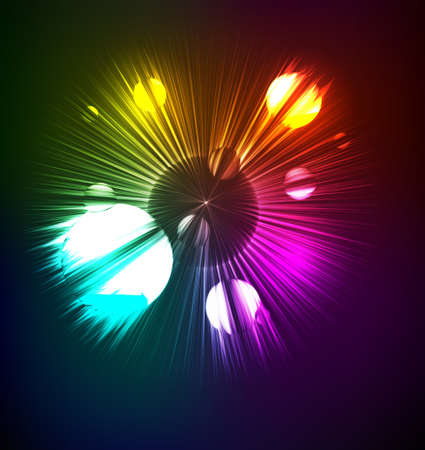 neon illustration of futuristic abstract glowing background Vector