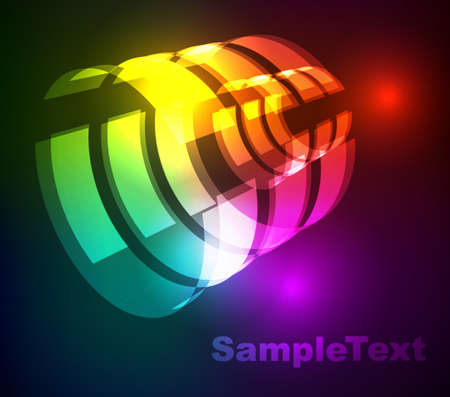 Glowing abstract background  Vector