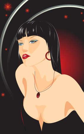 showgirl: Disco glamour girl