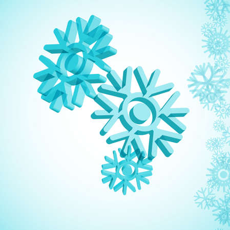 icicle: 3D snowflake Illustration