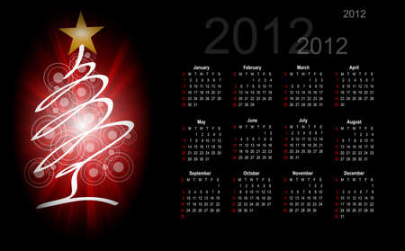 winter calendar 2012 Stock Vector - 12246069