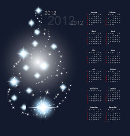 fireworks 'hope fireworks: winter calendar 2012 Illustration