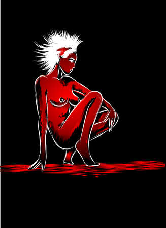 The nude girl