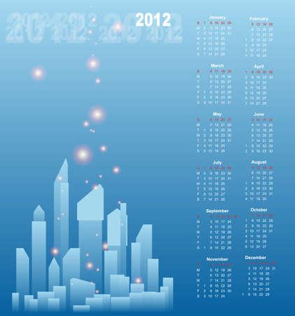 Calendar Design 2012 Vector