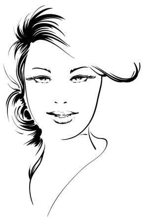beauty girl face Stock Vector - 12485673