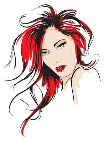taglio capelli: bellezza ragazza faccia