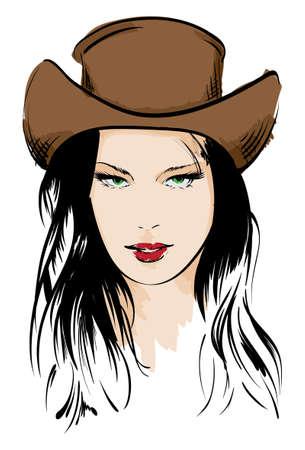 beauty girl face Illustration