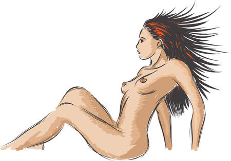 naked female: The nude women