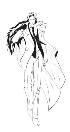 menswear: SKETCH  Man in business Illustration