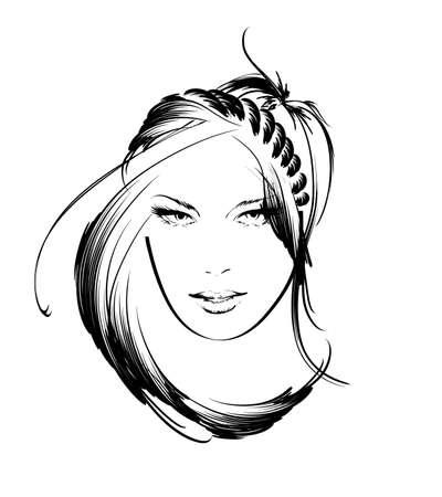 beauty girl face Stock Vector - 14971268