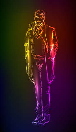 A light  man Vector