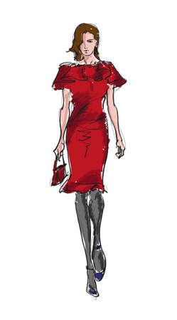 divas: SKETCH ni�as de moda Vectores