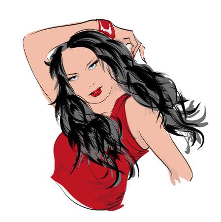 beauty girl face Stock Vector - 16426541