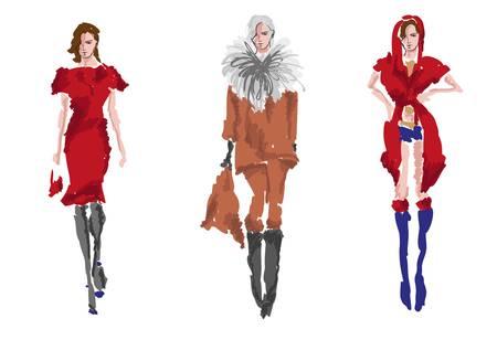 supermodel: SKETCH. fashion girls