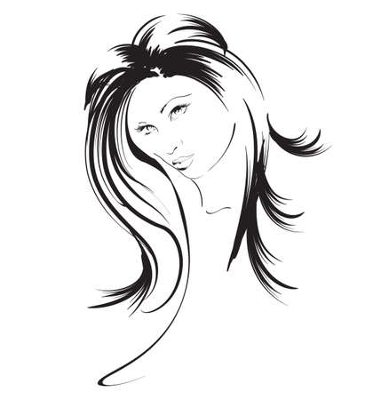 beauty girl face Vector