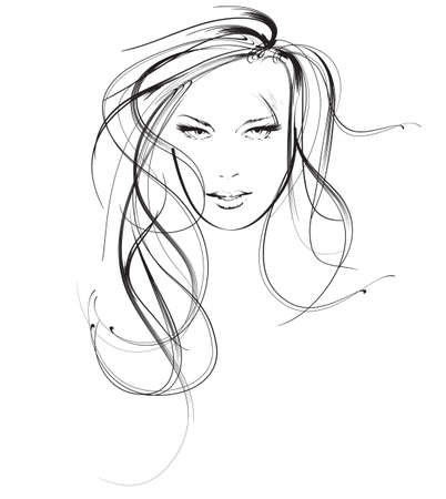 salon de belleza: belleza cara chica