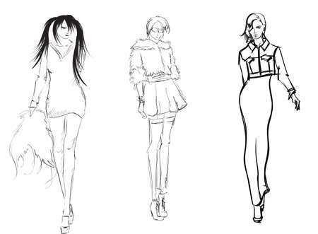 supermodel: SKETCH  fashion girls