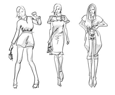 fashion sketch: SKETCH  fashion girls