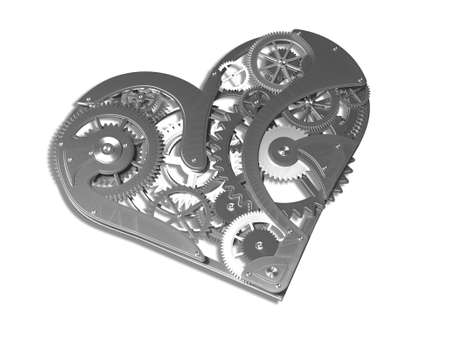 pacemaker: Heart symbol made out of cogs and gears