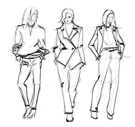 DIBUJO. las chicas de moda