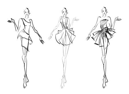 supermodel: SKETCH. fashion girls