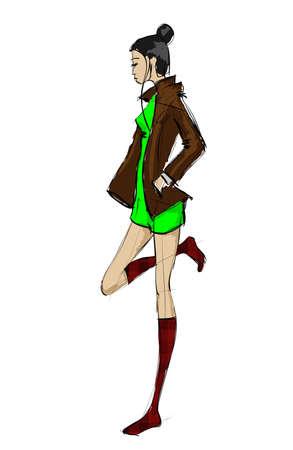 SKETCH. fashion girls