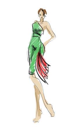 high fashion model: SKETCH. fashion girls