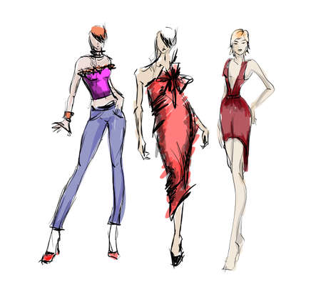 woman illustration: SKETCH. fashion girls