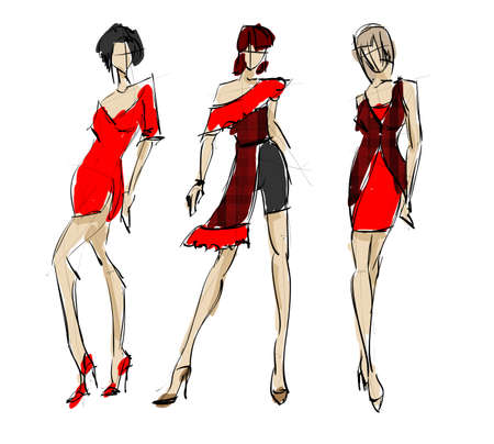 high fashion: SKETCH. fashion girls