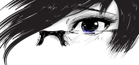 Vector illustration beautiful female eye