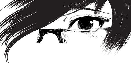 women face stare: Vector illustration beautiful female eye