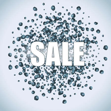 crumbling: SALE from the crumbling stones. Great for advertising posters and internet marketing. Illustration