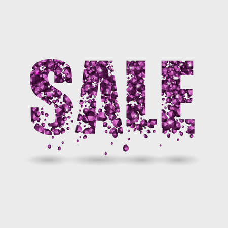 SALE from the crumbling stones on a light background Illustration