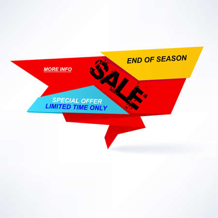 End of season sale banner. Limited time only. Special offer. Illustration
