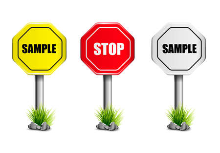 Road signs. Template on a white background.