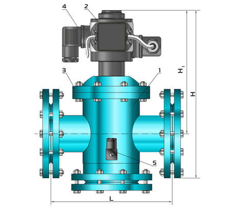 Croquis, dessins de construction. Construction métallique, tuyaux, tuyauterie. Vanne d'arrêt de gaz.