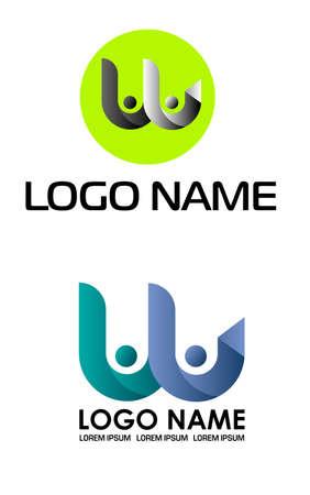 movement letter w logo template, fast letter w logo vector. W letter logo.