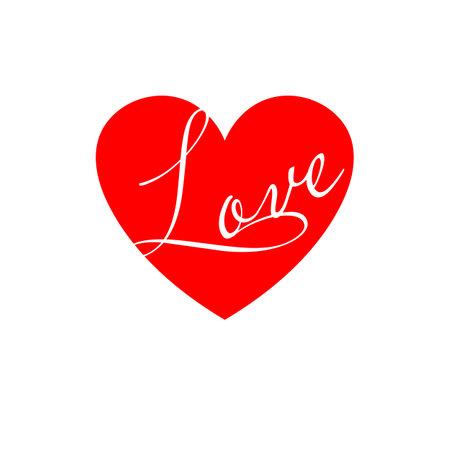Love Heart. Red heart design